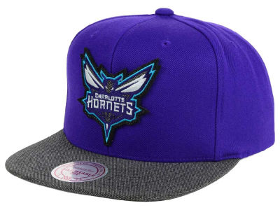 Charlotte Hornets Mitchell and Ness NBA Team Color Cation Snapback Cap