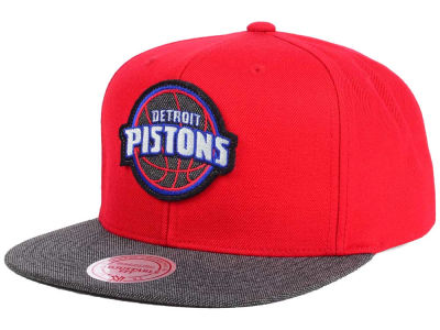 Detroit Pistons Mitchell & Ness NBA Team Color Cation Snapback Cap