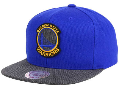 Golden State Warriors Mitchell & Ness NBA Team Color Cation Snapback Cap