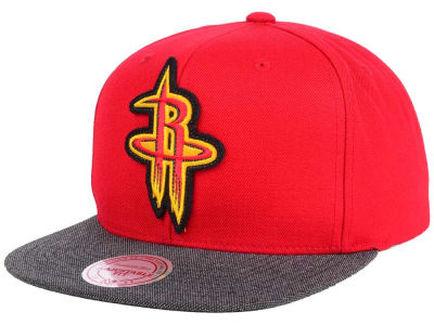 Houston Rockets Mitchell and Ness NBA Team Color Cation Snapback Cap