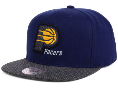 Indiana Pacers Mitchell and Ness NBA Team Color Cation Snapback Cap