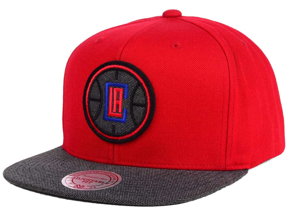 the best attitude 4ff6f bc6a9 Los Angeles Clippers Mitchell   Ness NBA Team Color Cation Snapback Cap    lids.com