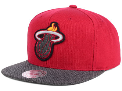 Miami Heat Mitchell and Ness NBA Team Color Cation Snapback Cap