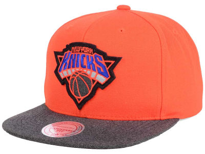 New York Knicks Mitchell & Ness NBA Team Color Cation Snapback Cap