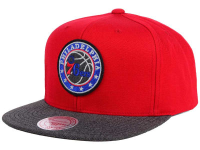 Philadelphia 76ers Mitchell and Ness NBA Team Color Cation Snapback Cap