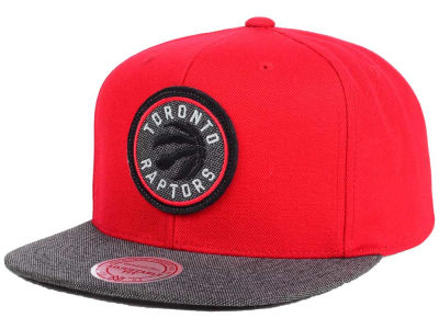 Toronto Raptors Mitchell and Ness NBA Team Color Cation Snapback Cap