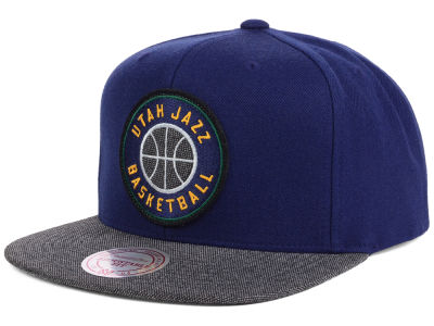 Utah Jazz Mitchell and Ness NBA Team Color Cation Snapback Cap