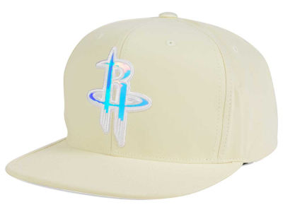Houston Rockets Mitchell & Ness NBA White Iridescent Snapback Cap
