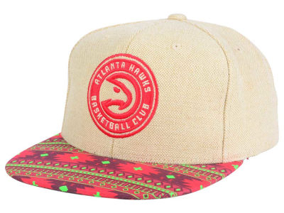 Atlanta Hawks Mitchell and Ness NBA Hemp Crown 2.0 Strapback Cap