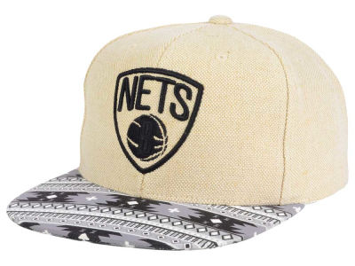 Brooklyn Nets Mitchell and Ness NBA Hemp Crown 2.0 Strapback Cap