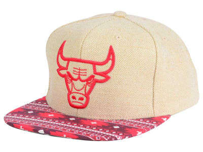 Chicago Bulls Mitchell and Ness NBA Hemp Crown 2.0 Strapback Cap
