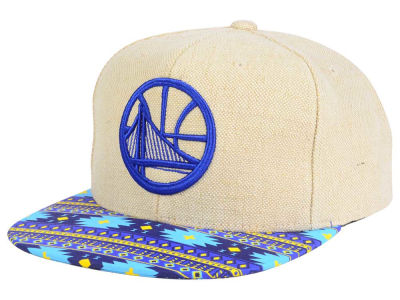 Golden State Warriors Mitchell & Ness NBA Hemp Crown 2.0 Strapback Cap