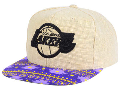 Los Angeles Lakers Mitchell and Ness NBA Hemp Crown 2.0 Strapback Cap