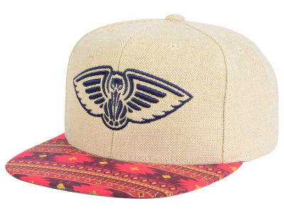 New Orleans Pelicans Mitchell & Ness NBA Hemp Crown 2.0 Strapback Cap
