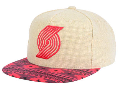 Portland Trail Blazers Mitchell and Ness NBA Hemp Crown 2.0 Strapback Cap