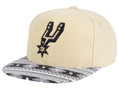San Antonio Spurs Mitchell and Ness NBA Hemp Crown 2.0 Strapback Cap