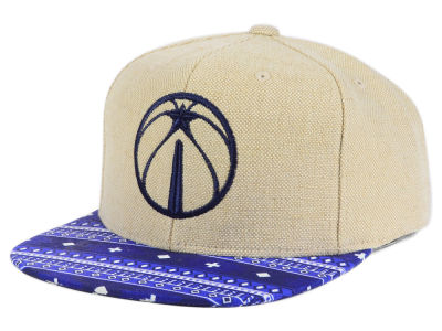 Washington Wizards Mitchell & Ness NBA Hemp Crown 2.0 Strapback Cap