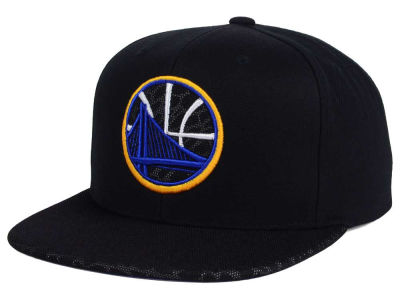 Golden State Warriors Mitchell and Ness NBA Black Reflect Snapback Cap