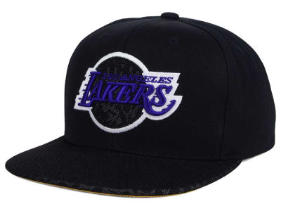 Los Angeles Lakers Mitchell and Ness NBA Black Reflect Snapback Cap