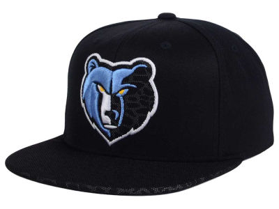 Memphis Grizzlies Mitchell and Ness NBA Black Reflect Snapback Cap