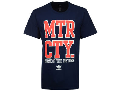 Detroit Pistons adidas Originals NBA Men's Originals City Stack T-Shirt