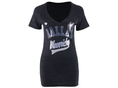 Dallas Mavericks adidas NBA Women's Oil Foil T-Shirt