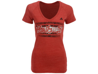 Atlanta Hawks adidas NBA Women's Woodgrain Stripe T-Shirt