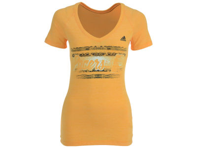Indiana Pacers adidas NBA Women's Woodgrain Stripe T-Shirt