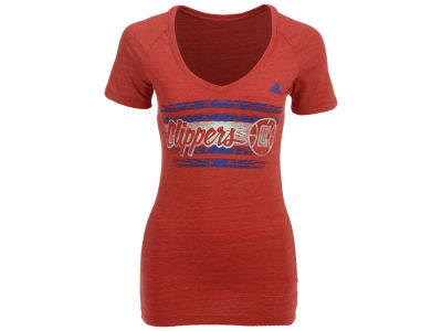 Los Angeles Clippers adidas NBA Women's Woodgrain Stripe T-Shirt
