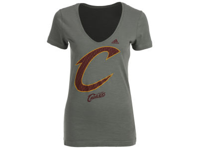 Cleveland Cavaliers adidas NBA Women's Netted Shine T-Shirt