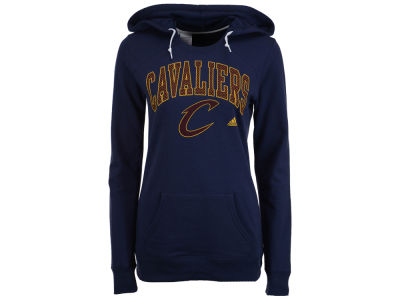 Cleveland Cavaliers adidas NBA Women's Mesh Arch Hooded Sweatshirt