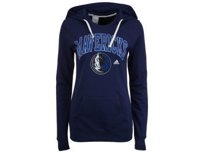 Dallas Mavericks adidas NBA Women's Mesh Arch Hooded Sweatshirt