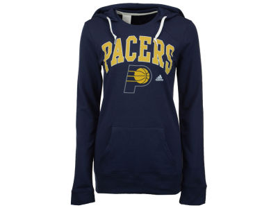 Indiana Pacers adidas NBA Women's Mesh Arch Hooded Sweatshirt
