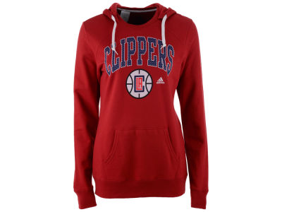 Los Angeles Clippers adidas NBA Women's Mesh Arch Hooded Sweatshirt