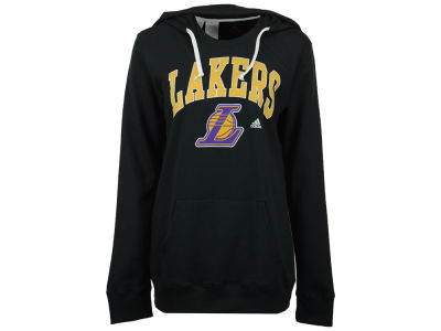 Los Angeles Lakers adidas NBA Women's Mesh Arch Hooded Sweatshirt