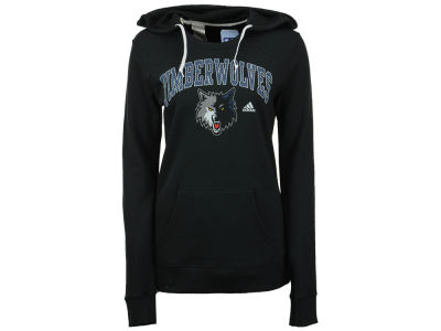 Minnesota Timberwolves adidas NBA Women's Mesh Arch Hooded Sweatshirt