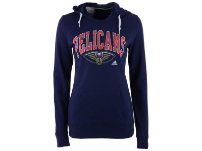 New Orleans Pelicans adidas NBA Women's Mesh Arch Hooded Sweatshirt