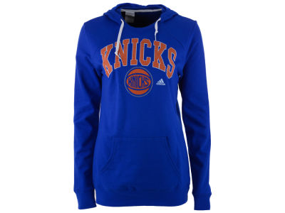 New York Knicks adidas NBA Women's Mesh Arch Hooded Sweatshirt