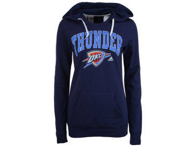 Oklahoma City Thunder adidas NBA Women's Mesh Arch Hooded Sweatshirt