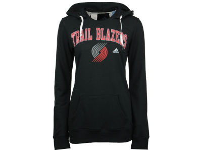 Portland Trail Blazers adidas NBA Women's Mesh Arch Hooded Sweatshirt