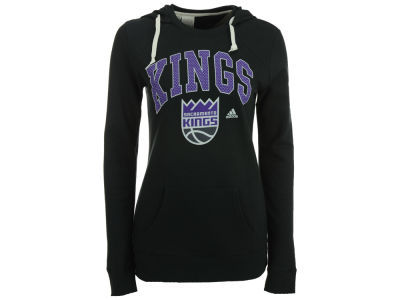 Sacramento Kings adidas NBA Women's Mesh Arch Hooded Sweatshirt