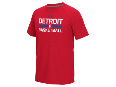 Detroit Pistons adidas NBA Men's On Court Graphic Climalite T-Shirt
