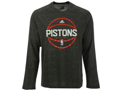 Detroit Pistons adidas NBA Men's Climalite Pregame Long Sleeve T-Shirt