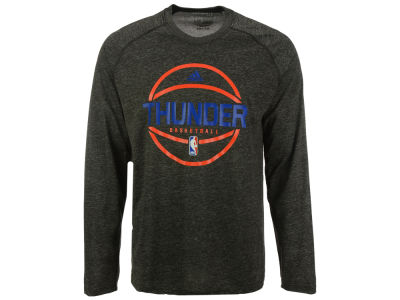 Oklahoma City Thunder adidas NBA Men's Climalite Pregame Long Sleeve T-Shirt