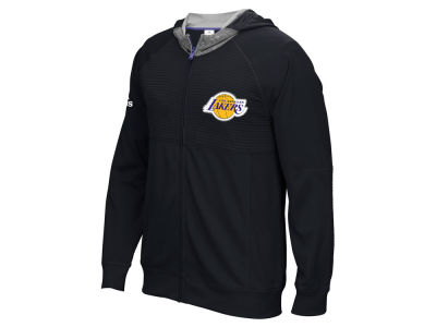 Los Angeles Lakers adidas NBA Men's Pre Game Full Zip Hooded Jacket