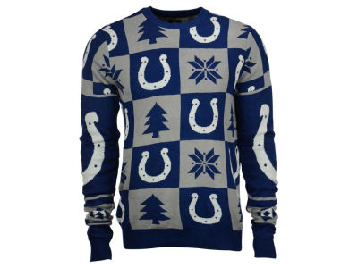 Indianapolis Colts NFL Men's Patches Ugly Sweater