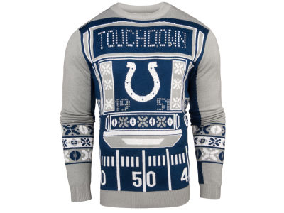 Indianapolis Colts NFL Men's Light Up Ugly Crew Neck Sweater