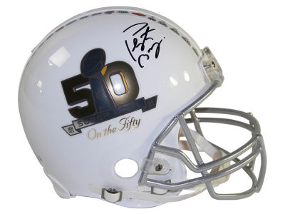 Peyton Manning Peyton Manning Autographed On the 50 Helmet
