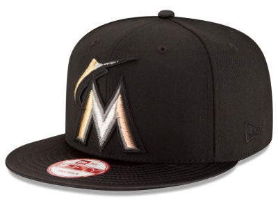 Miami Marlins New Era MLB All Metals 9FIFTY Snapback Cap