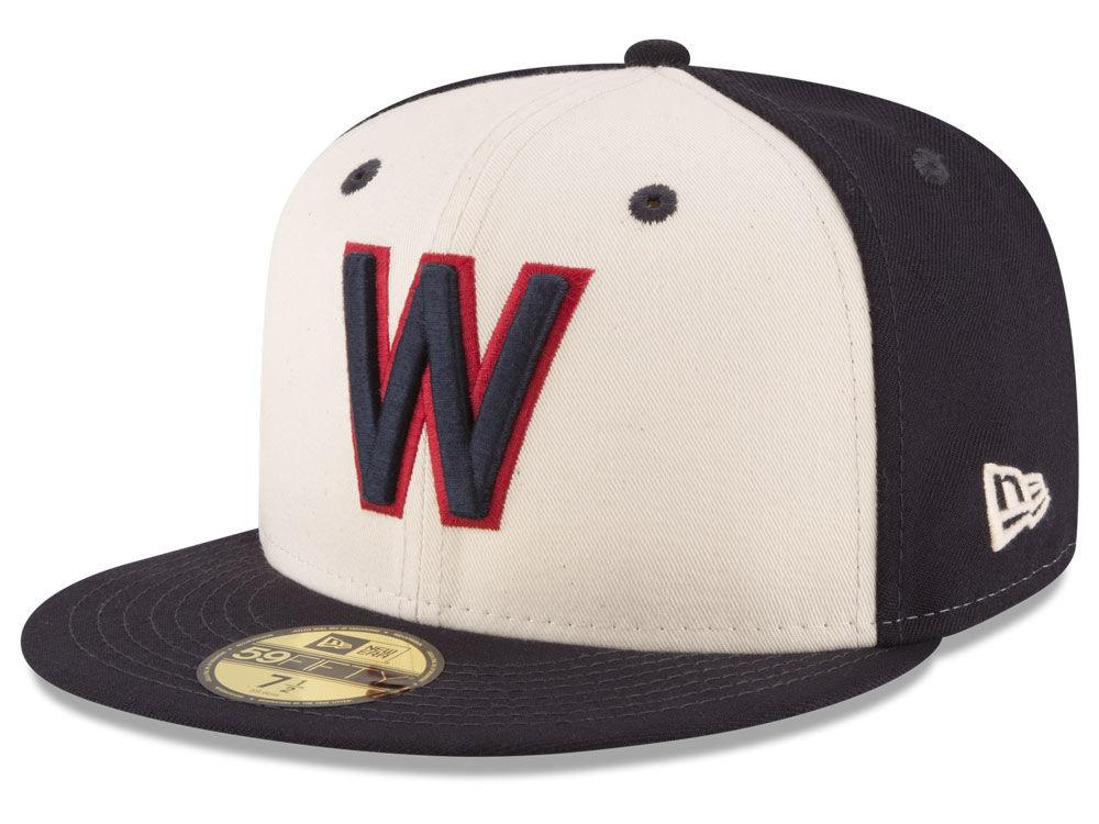 Washington Nationals New Era MLB Vintage Throwback 59FIFTY Cap  369ea0d2ad7